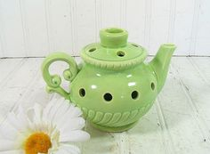 Early Homer Laughlin Style Summer Green Ceramic by DivineOrders, $87.00