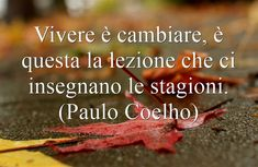 Vivere è cambiare, è questa la lezione che ci insegnano le stagioni. (Paulo Coelho) Me Quotes, Motivational Quotes, Social Media Pages, Meaningful Words, Be Yourself Quotes, Messages, Bathrooms, Wedding Suite, Wedding Accessories