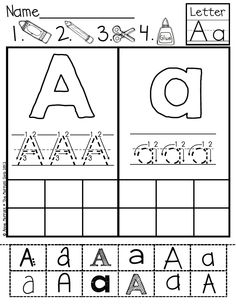 ABC Cut and Paste Fonts!  Such a fun and interactive way to help students identify letters in various prints.
