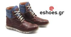 Ανδρικά Casual Μποτάκια Δερμάτινα – Καφέ/Μπλε #man #boots #leather only 58,99€ Find Your Match, Comfortable Shoes, Hiking Boots, Most Beautiful, Glamour, How To Wear, Fashion, Comfy Shoes, Moda