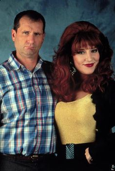 Katey Sagal Photos - Page 1 - Married. with Children Best Tv Couples, Movie Couples, Famous Couples, Peggy Bundy, Al Bundy, Katey Sagal, Family Halloween Costumes, Halloween Costunes, Married With Children
