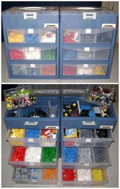 Lego Storage - Inside a Toolbox