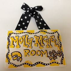 The University of Iowa Hawkeyes Dorm Room Sign, Hand painted graduation or birthday gift dorm decor customize any school