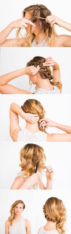 Swept Away: DIY Side Swept Braid and Wave Hair