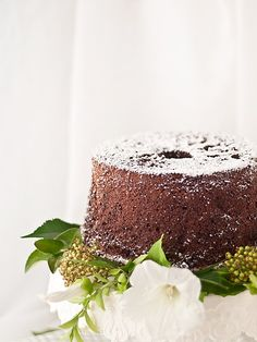Chocolate coffee chiffon cake