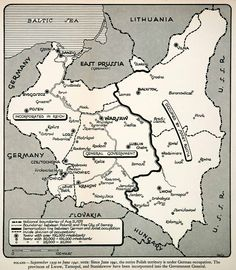 The partition of Poland in 1939 between Nazi German and the Soviet Union