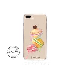 Macaron iPhone Case - iPhone 7 Case - iPhone 7 Plus Case - iPhone 6 Case - iPhone 8 Case - iPhone X Case - iPhone 8 Plus Case - Clear by PetrichorCases on Etsy Iphone 8 Plus, Iphone 7 Cases, Phone Case, Iphone 6, Macarons, Artwork, Etsy, Work Of Art, Cell Phone Cases