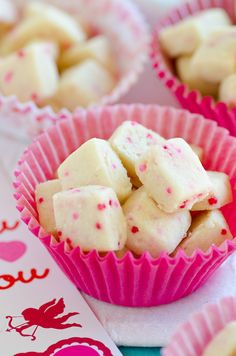 Cupid Bites - miniature shortbread cookies dotted with festive sprinkles.  Bag it up and tuck into a sweet mug for a Valentine's Day gift!