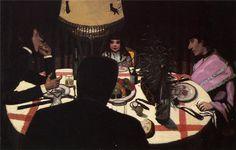 Felix Vallotton - Dinner by Lamplight