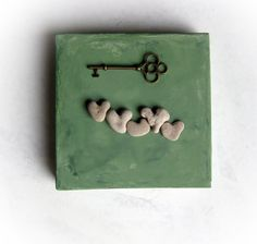Unique Anniversary Gift for Family -  genuine Heart shaped Beach stones rocks.