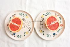 """ercuillium: """" Plates - Dance Collection found on Etsy -Source (do not remove) """""""