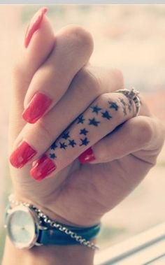Star Finger tattoo = LOVE