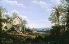 Gezicht op de jezuïetenkerk in Olinda, Brazilië 1665