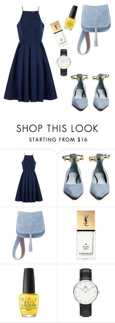 """""""Untitled #242"""" by dinirizky ❤ liked on Polyvore featuring Chi Chi, Fabrizio Viti, Steve Madden, Yves Saint Laurent, OPI and Daniel Wellington"""