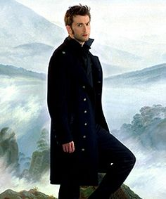 """Unless I'm totally and utterly mistaken, I believe this is David Tennant on the cover of one edition of Mary Shelley's """"Frankenstein.""""  Hello, Doctor."""