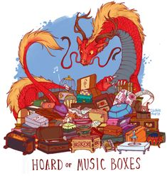 dragon hoard of music boxes by iguanamouth