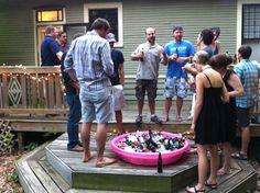 Beer Party Ideas   FuzzyBrew   Beer Party Ideas.....GENIUS.