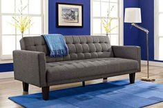 This tufted fold-down sleeper sofa that's a great option for anyone who has frequent houseguests.