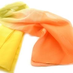 Ιταλικό φουλάρι πορτοκαλί με κίτρινο ombre Accessories, Fashion, Moda, Fashion Styles, Fashion Illustrations