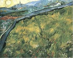 Vincent van Gogh -Field of Spring Wheat at Sunrise - Saint-Rémy: May-June, 1889.