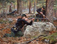 American Civil War Art -                                                              Berdan's Sharpshooters Don Troiani artwork