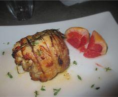 FORNELLI IN FIAMME: ROLLS OF CHICKEN WITH RED GRAPEFRUIT JUICE AND AROMAS - Involtini di pollo ripieni con succo di pompelmo rosso e aromi