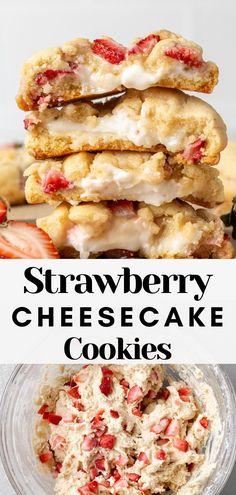 Strawberry Cream Cheese Dessert, Strawberry Dessert Recipes, Summer Dessert Recipes, Cream Cheese Strawberries, Desserts With Strawberries, Strawberry Cheesecake Recipe Easy, Easy Strawberry Desserts, Strawberry Cream Cakes, Strawberry Pretzel Salad