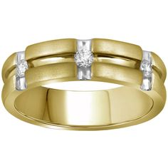 10k Gold 1/4ct TDW Diamond Wedding Band (G-H, I1-I2) (Size ), Women's