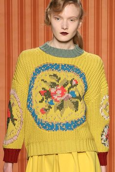 Antonio Marras F/W '13 | duplicate stitch embroidery, love the colours LKnits.com