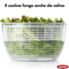 Mega promo sulla centrifuga XL asciuga insalata di OXO 🥗  La centrifuga per insalata che si usa con un semplice pulsante. Il miglior modello in commercio per efficenza e semplicità d'uso. Vieni a scoprirla nel nostro negozio. Home