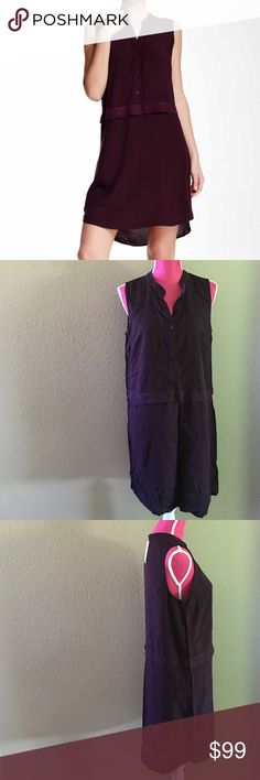 Splendid Mock Collar Woven Dress Color is aubergine. Shirt style type dress. Great with short booties or flat sneakers. Dressed up or down. Offers welcome through offer tab. No trades. 10809161151 Splendid Dresses Mini