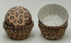 100pcs Brown Leopard Fashion Paper Cupcake Liners Muffin Cases Baking Cups B075 | eBay