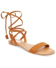 INC International Concepts Ganice Two-Piece Lace-Up Flat Sandals, Only at Macy's | macys.com