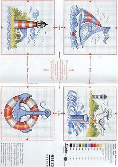 Cross stitch pattern, marina.