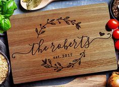 A personalized cutting board for the mom who basically drools over new kitchen decor and gadgets. | 29 Mother's Day Gifts Your Mom Will Actually Love