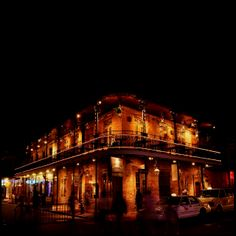 Bourbon Street in New Orleans. Party Central!  Night photography.