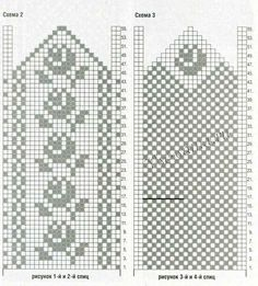 ru images stories spic Varezhki-s-tcvetochnym-ornamentom-shema. Double Knitting Patterns, Knitted Mittens Pattern, Fair Isle Knitting Patterns, Knit Mittens, Knitting Charts, Knitted Gloves, Knitting Stitches, Knitting Socks, Crochet Chart