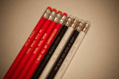 """""""Twin Peaks"""" Pencils, $8.95 for eight"""