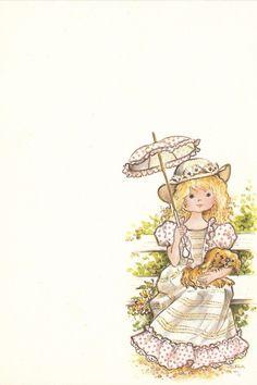 papel-de-carta-antigo-menininha Vera umbrella girl