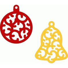 Silhouette Design Store: christmas ornaments charms