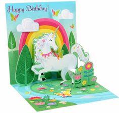Unicorn Pop Up Birthday Card NEW