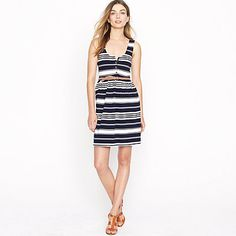 villa dress in stripe. jcrew