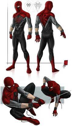Spider-Man costume redesign By Albert Hulm