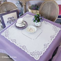Cutwork Embroidery, Table Settings, Textiles, Table Decorations, Mandala, Pattern, Gifts, Vintage, Towels