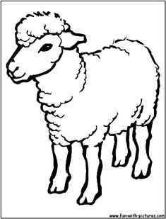 Sheep Outline Drawing Coloring Page - sheep cartoon images funny ...