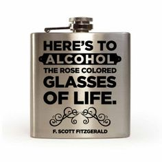 F. Scott Fitzgerald quote laser engraved flask by TheChugLife