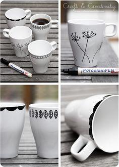 Projete suas próprias canecas - por Craft & Creativity