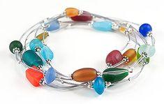 Jewelry Making Idea: Beach Glass Bangle Bracelets (eebeads.com)