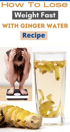 Ginger Water, Water Recipes, Healthy Drinks, Healthy Recipes, Fat Burning Tea, How To Lose Weight Fast, Japanese Food, Burns, Thighs