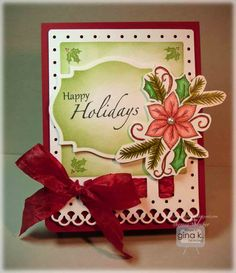 Crafting The Web: Happy Holidays Card Tutorial and and Invitation